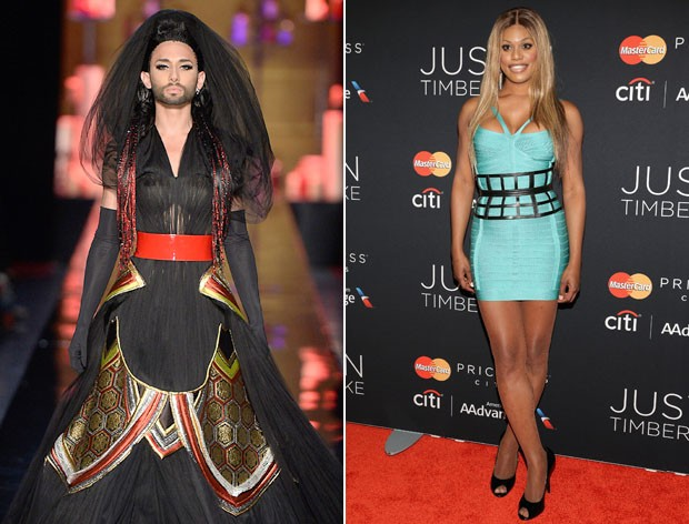 Conchita Wurst e Laverne Cox. (Foto: Getty Images)