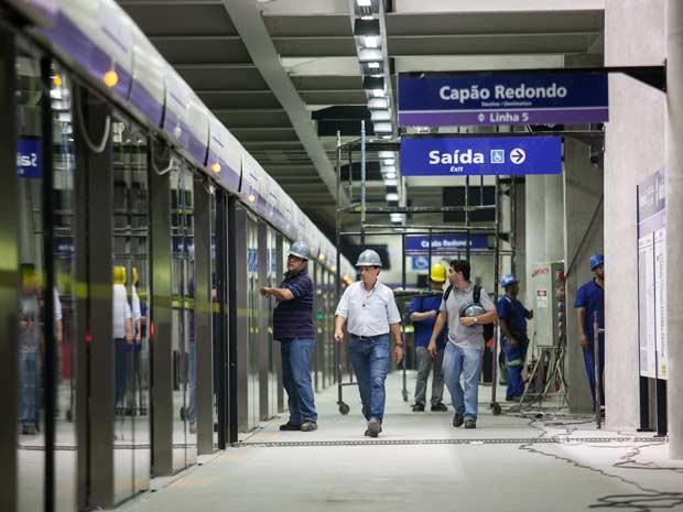 Estação Adolfo Pinheiro (Foto: Victor Moryiama/G1 )