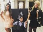 Thammy Miranda lança exposição e recebe a namorada e Val Marchiori