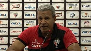Hélio dos Anjos - técnico Atlético-GO (Foto: Reprodução / TV Anhanguera)