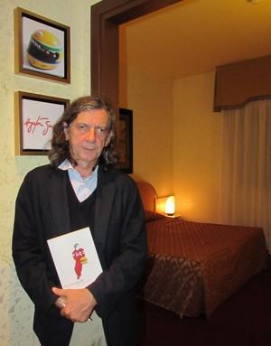 Giorgio Terruzzi, autor do livro Suite 200, a última noite de Senna (Foto: Felipe Siqueira)