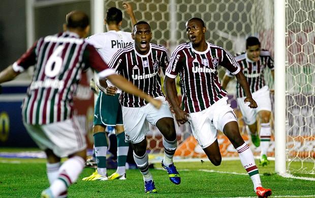 Denilson fluminense gol goiás brasileirão 2013 (Foto: Agência Photocamera)