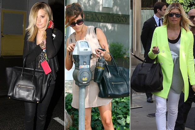 MODA - Bolsa Céline - Ashley Tisdale, Kate Walsh e Fergie (Foto: Getty Images)