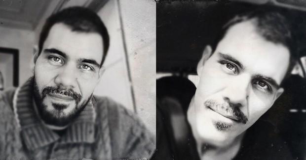 Juliano Cazarré antes e depois da mudança de visual (Foto: Reprodução/Instagram)