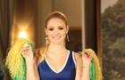 Megan fazendo a cheerleader (Foto: Camila Camacho / TV Globo)