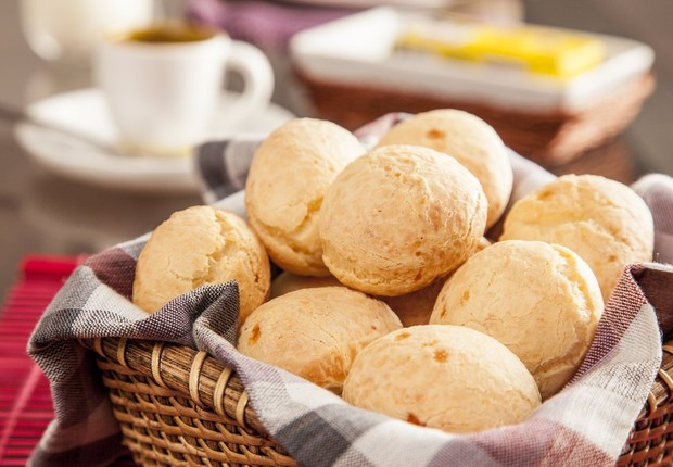 Café da manhã ; pão de queijo ; alimentação ; alimentos ; refeição ;  (Foto: Thinkstock)