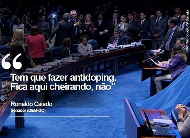 bate-boca caiado lindberg (Foto: Reprodução/TV Senado)