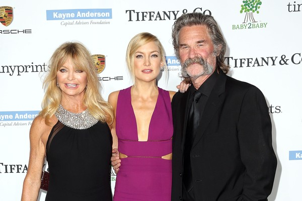 Goldie Hawn, Kate Hudson e Kurt Russell (Foto: Getty Images)