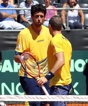 Bruno Soares e Marcelo Melo Tênis Copa Davis (Foto: Cristiano Andujar/CBT)