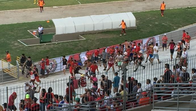 Campinense, América-RN, confusão, Amigão (Foto: Silas Batista / GloboEsporte.com)