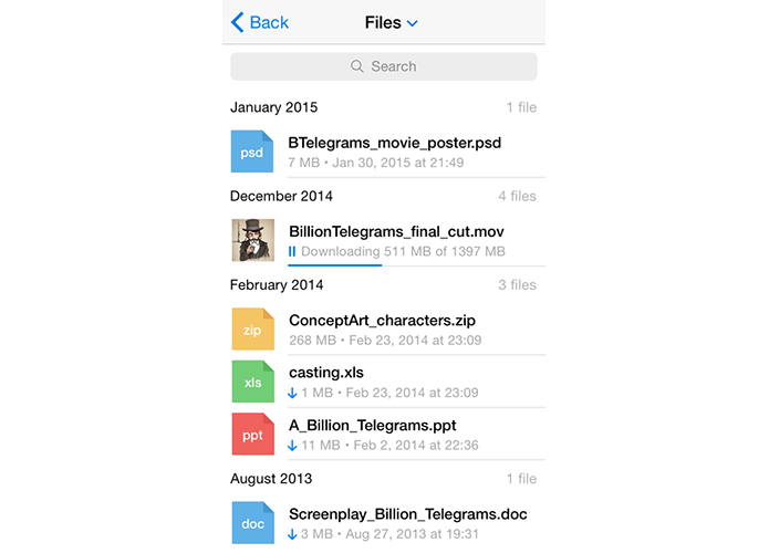 Telegram consegue transferir qualquer arquivo de até 1,5 GB, algo que o WhatsApp não chega nem perto (Foto: Divulgação)