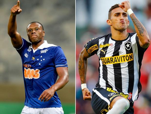 MONTAGEM - Júlio Baptista, Cruzeiro, e Rafael Marques, Botafogo (Foto: Arte SporTV.com)