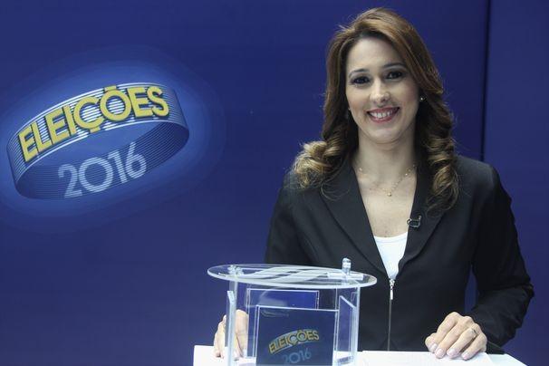 Susane Vidal mediou o debate da TV Sergipe (Foto: Divulgação / TV Sergipe)