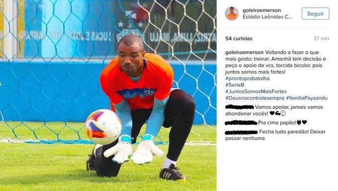 Emerson, Paysandu (Foto: Reprodução/Instagram)
