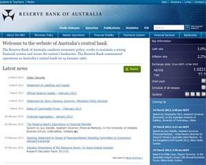 Site do 'Reserve Bank of Australia', ou banco central da Austrália, foi atacado por hackers (Foto: Reprodução)