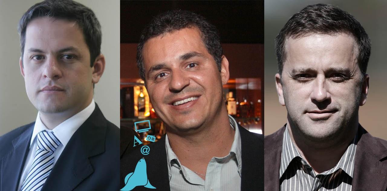 Rodrigo Rangel, Eduardo Caliman e Leonencio Nossa (Foto: Divulgação/ TV Gazeta)