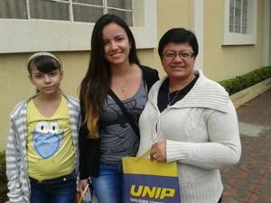 Joyce veio de Borborema prestar a prova da Unesp (Foto: Mariana Bonora/G1)