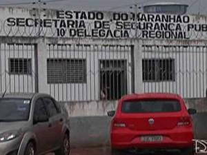 Delegacia de Porto Franco (Foto: Reprodução/ TV Mirante)