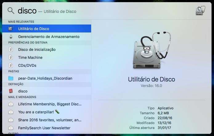 Abra o Utilitário de Disco (Foto: Reprodução/Helito Bijora)