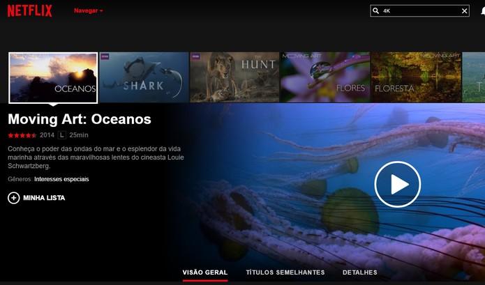Netflix oferece vídeos em Ultra HD (Foto: Reprodução/Barbara Mannara)