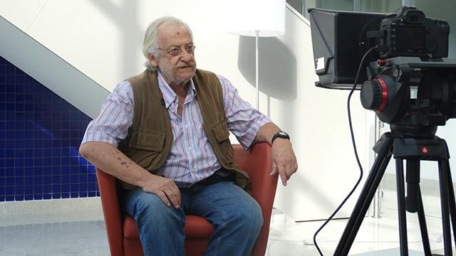 Tanah Corrêa em gravação de vídeo na sede da TV Tribuna para divulgação do FESCETE 2016  (Foto: Fernanda Maciel)