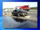 Paciente e motorista de ambulância morrem após acidente com carreta