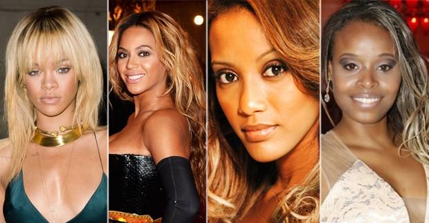 Negra loira - Tais Araujo - Roberta Rodrigues - Beyonce - Rihanna (Foto: Getty Images, TV Globo e Divulgao.)