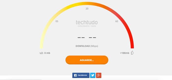 O sistema vai pedir 'Aguarde', enquanto esta analisando a sua conexão de Internet (Foto: Reprodução/Internet)