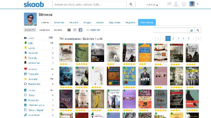 O Skoob é uma rede social de leitores brasileira que oferece excelentes recursos (Fotos: Daniel Ribeiro)