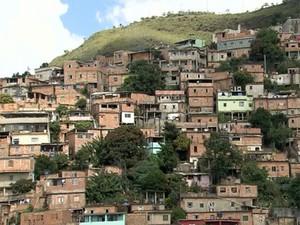 Parte do Aglomerado da Serra, em BH (Foto: Reprodução TV Globo)