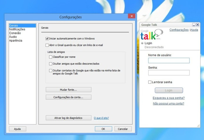 Google Talk tinha cliente para Windows e era integrado com Gmail e Orkut (Foto: Reprodução/Taysa Coelho)