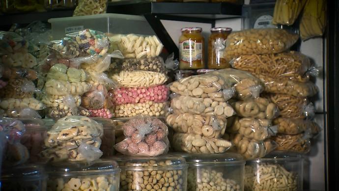 Um dos biscoitos mais procurados na região é o avoador (Foto: TV Bahia)