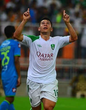 Osvaldo marca pelo Al Ahli (Foto: Divulgação)
