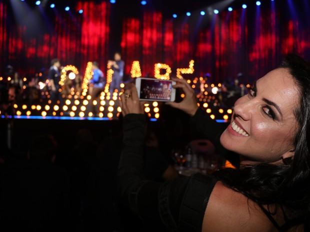 Graciele Lacerda em show em São Paulo (Foto: Fred Pontes/ Divulgação)