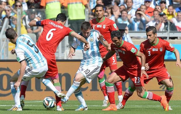 Messi Argentina x Irã (Foto: EFE)