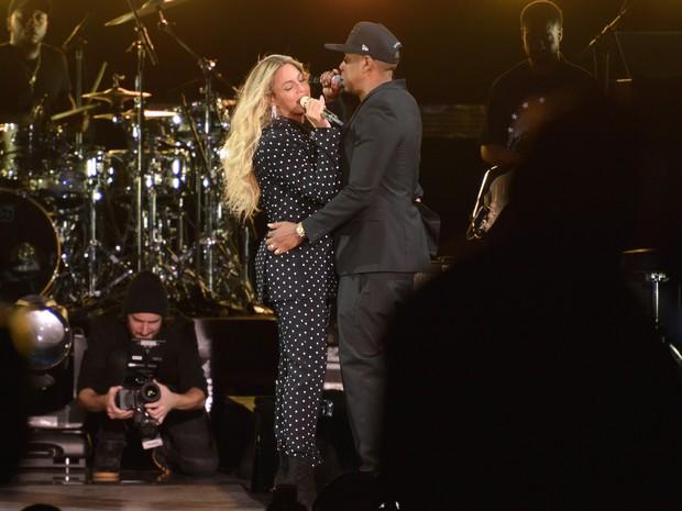 Beyoncé e Jay-Z se apresentam em Cleveland, nos Estados Unidos (Foto: Duane Prokop/ Getty Images/ AFP )