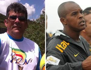 Andrey Valério e Júnior Negão futebol de areia (Foto: Reprodução / Facebook)