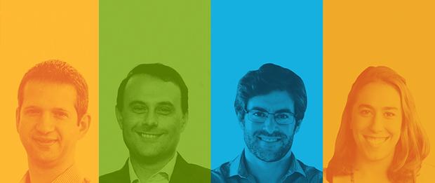 Flavio Pripas (Cubo), Rogerio Tamassia (Liga Ventures), Renato Valente (Wayra Brasil) e Fernanda Caloi (Google Campus) (Foto: Divulgação)