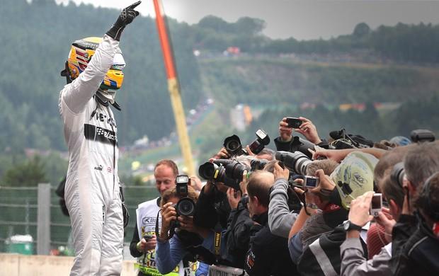 Formula 1 Hamilton gp Bélgica (Foto: Agência AP)