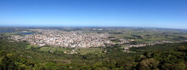Morro da Borússia Osório RS Nossa Terra (Foto: Luciane Kohlmann/RBS TV)