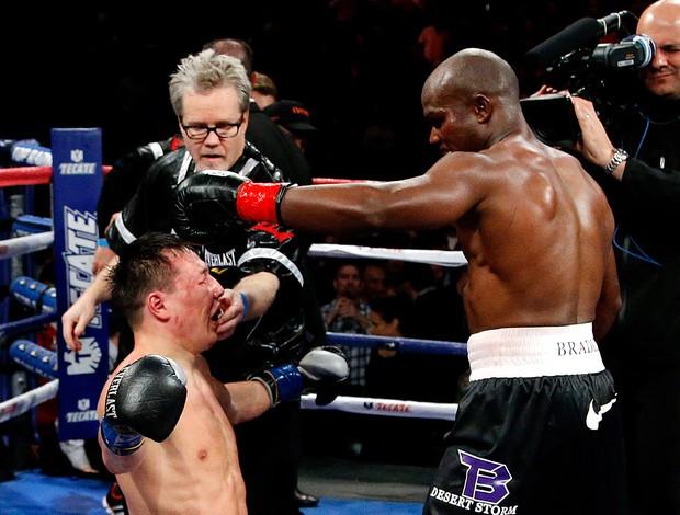 boxe  Tim Bradley e o russo Ruslan Provodnikov - Agência AP (Foto: Agência AP)
