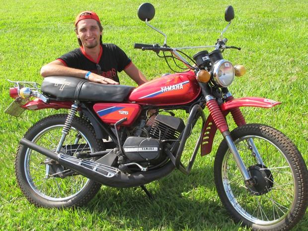Yamaha TT 125 foi a primeira motocicleta Yamaha todo-terreno nacional de fábrica. (Foto: Rafael Miotto/G1)