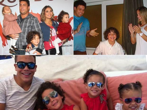 Filhos de Ronaldo - ANTES e DEPOIS (Foto: Reprodução/ Instagram | Divulgação | Ag. News)
