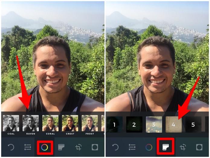 Aplique filtros nas fotos com o Afterlight (Foto: Reprodução/Lucas Mendes)