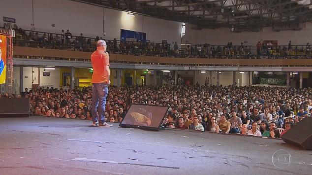 Aulão reuniu 7 mil pessoas numa casa de show (Foto: Reprodução)