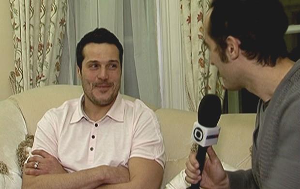 Julio César, goleiro da Seleção, em entrevista ao SporTV (Foto: Reprodução/SporTV)