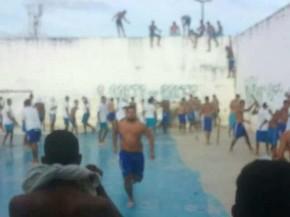 Preso estão soltos e houve invasão de pavilhão, segundo a PM (Foto: Divulgação/PM)