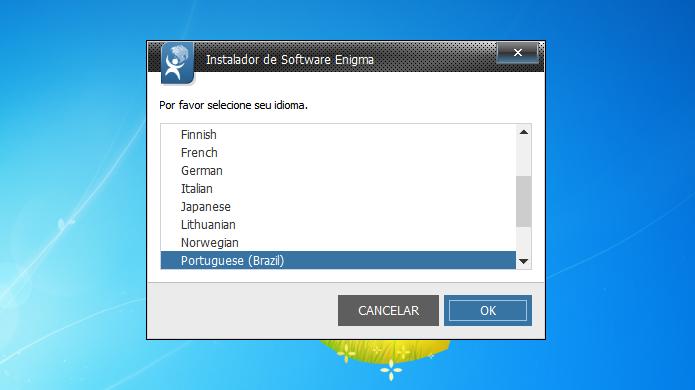 Escolha o idioma que você quer usar (Foto: Reprodução/Helito Bijora)