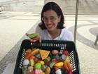 'Chefe de Papinha' faz ação divertida sobre alimentação em Santos, SP