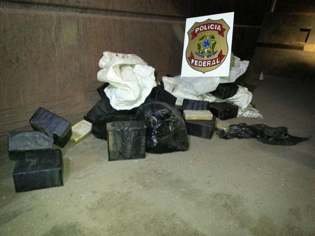 Droga apreendida durante a operação  (Foto: Divulgação / PF )